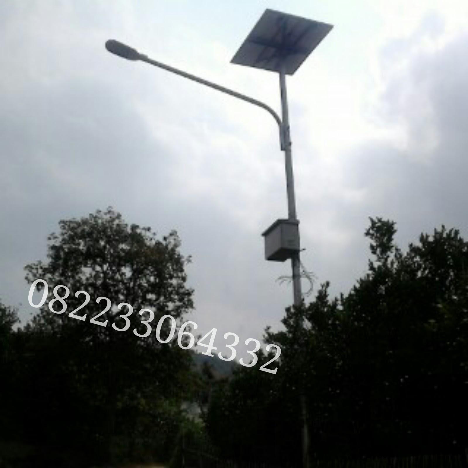 JUAL PAKET LAMPU PJU (Penerangan Jalan Umum) SOLAR CELL TERMURAH