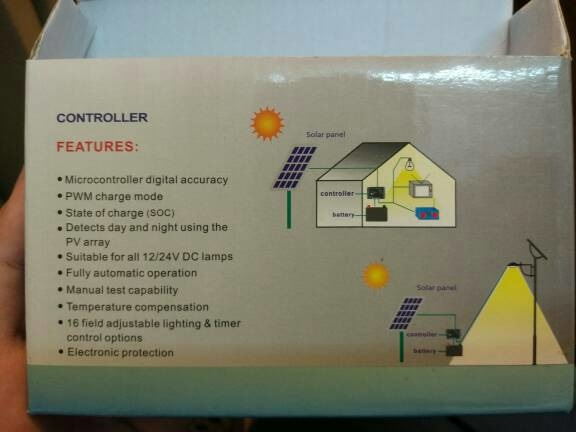 Manual pwm solar panel charger charge controller STEC 10a