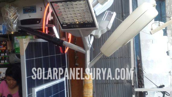 Harga Solar Panel 30watt Polycrystalline Terbaru Lengkap Dengan Tiang Galvanis 7meter