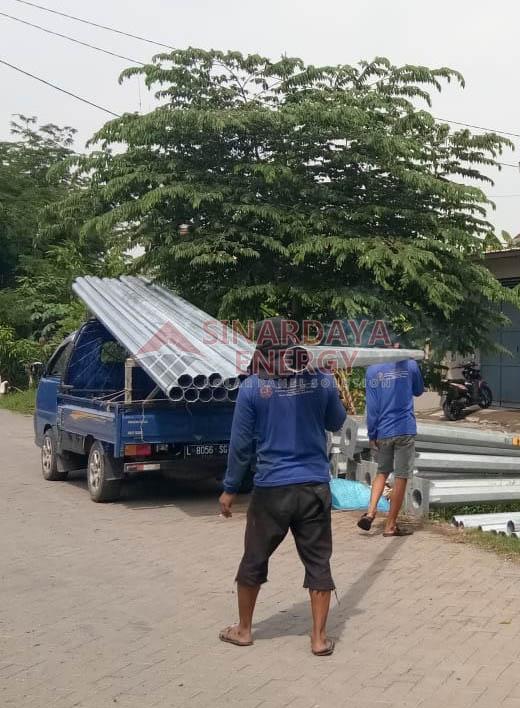 Jual Tiang Lampu Jalan PJU Papua