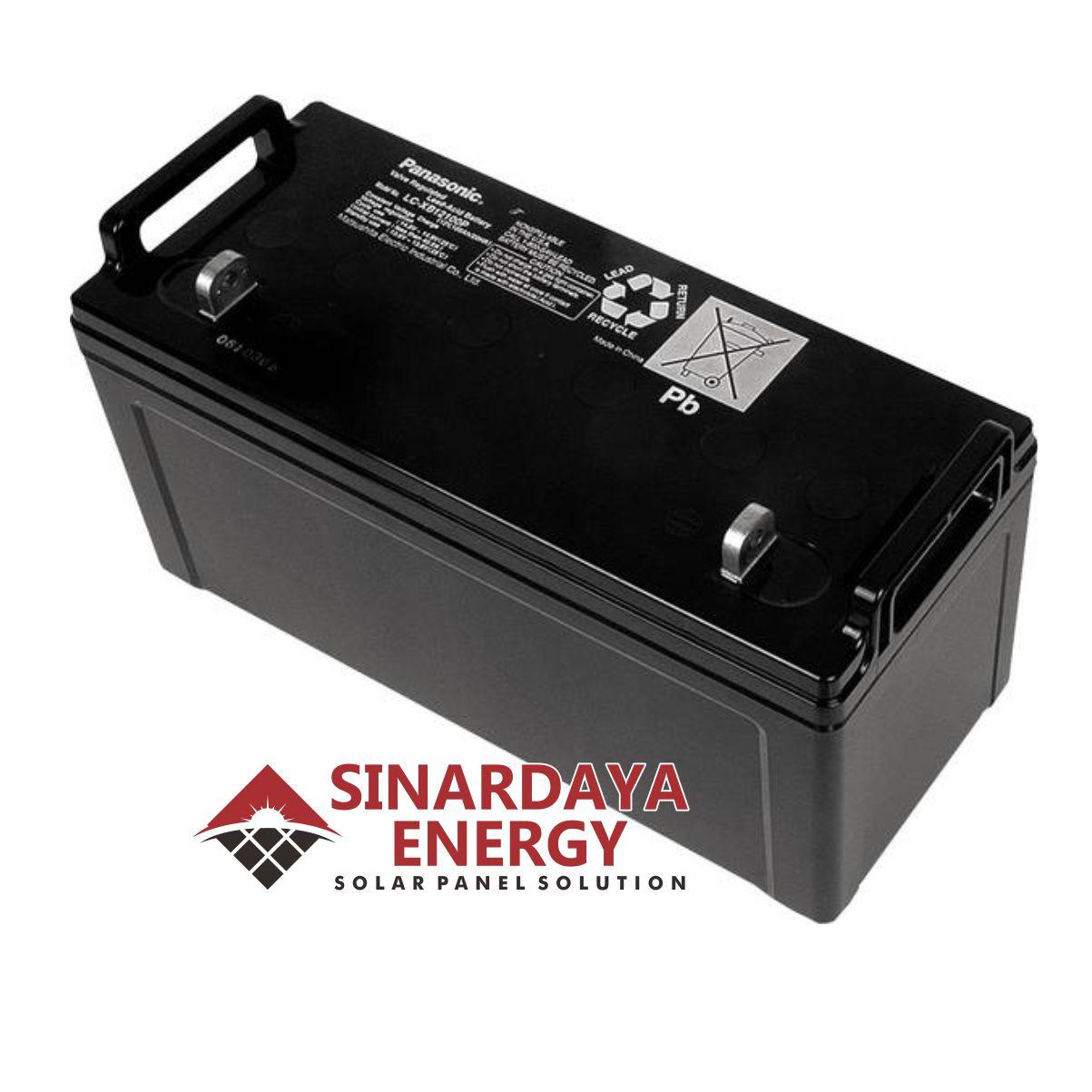 harga baterai panasonic 12v 100ah LC-XB12100P