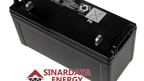 Battery Solarcell Panasonic 12V 120Ah | Baterai Aki Tenaga Surya Panasonic