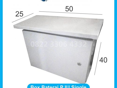 Box Baterai PJU Single